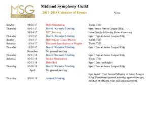 Msg Calendar.Calendar 2017 2018 For Msg Midland Symphony Guild